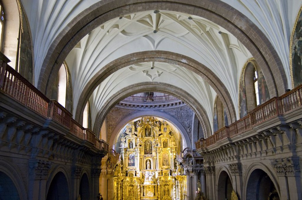 Stock Photo: 4409-58361 Peru. Cusco city. Church of La Compañia (17th century). Interior. .