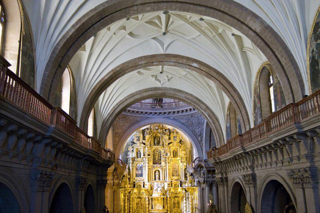 Peru. Cusco city. Church of La Compañia (17th century). Interior.. : Stock Photo