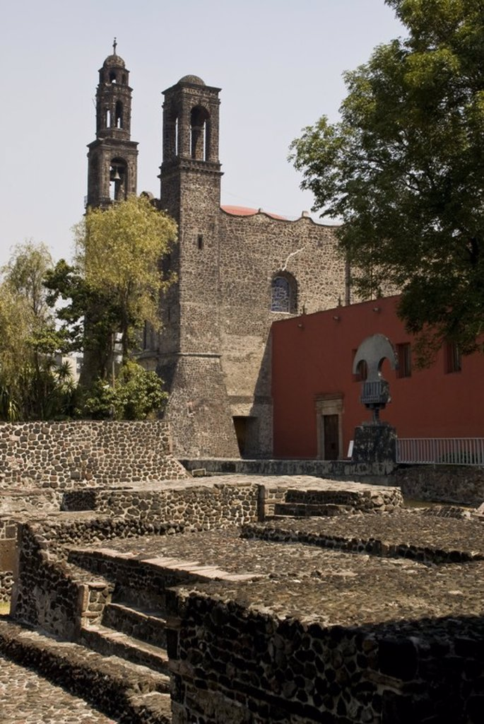 Stock Photo: 4409-58362 The Church of Santiago(17th century) in Tlatelolco.Mexico City. .
