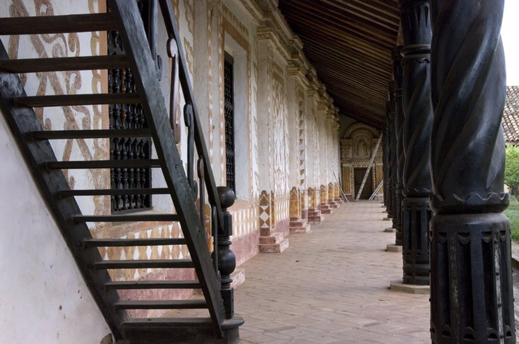 Stock Photo: 4409-58388 Bolivia. Santa Cruz. Colonial Church of San Rafael (Chiquitania). Old Jesuit Mission(1695). UNESCO World Heritage Site. .