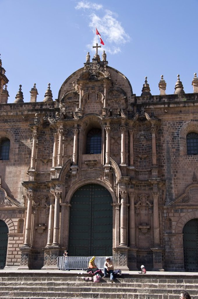 Stock Photo: 4409-58579 Peru. Cusco city. The Cathedral. .