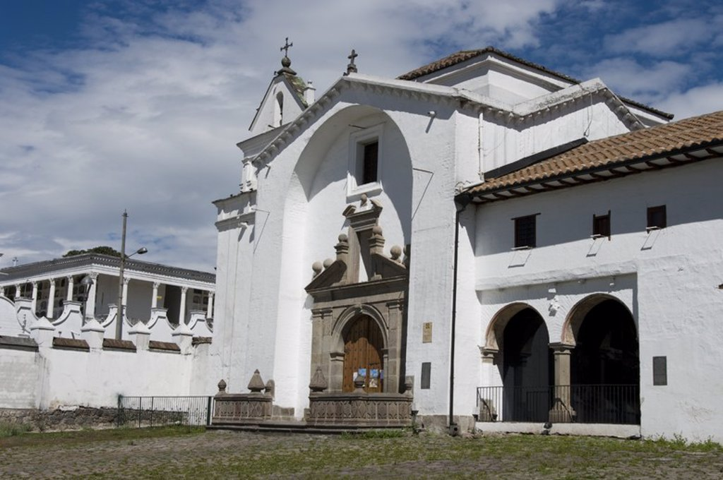 Ecuador. Quito city. Church and convent of San Diego. . : Stock Photo