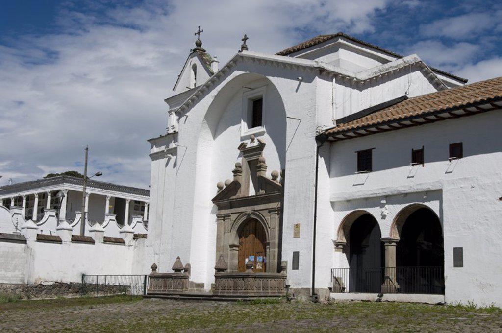 Ecuador. Quito city. Church and convent of San Diego.. : Stock Photo