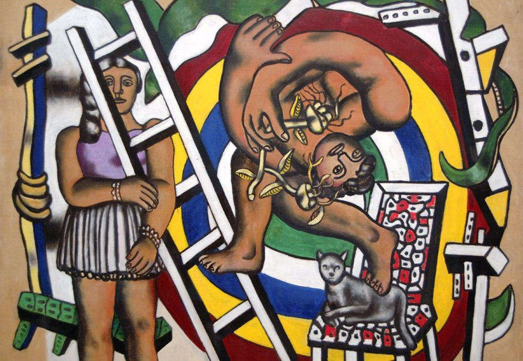 Fernand Leger (1881-1955). French painter. The acrobat and his partner, 1948. Oil on canvas. Tate Modern. London. England. UK. : Stock Photo