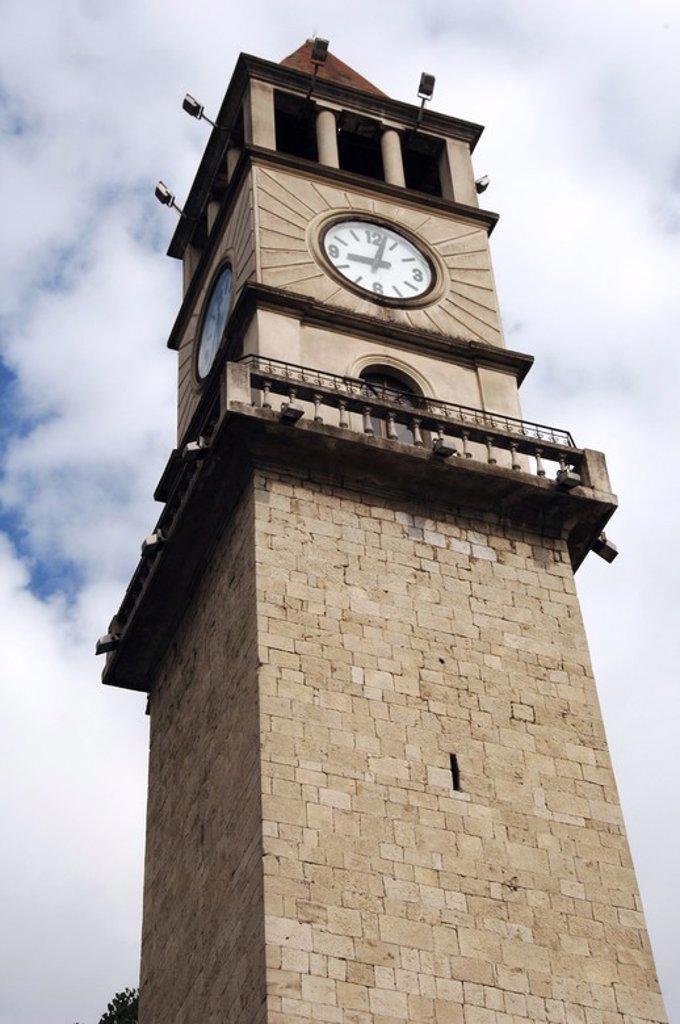Stock Photo: 4409-60801 Torre del Reloj. Plaza Skanderberg. Tirana. República de Albania.