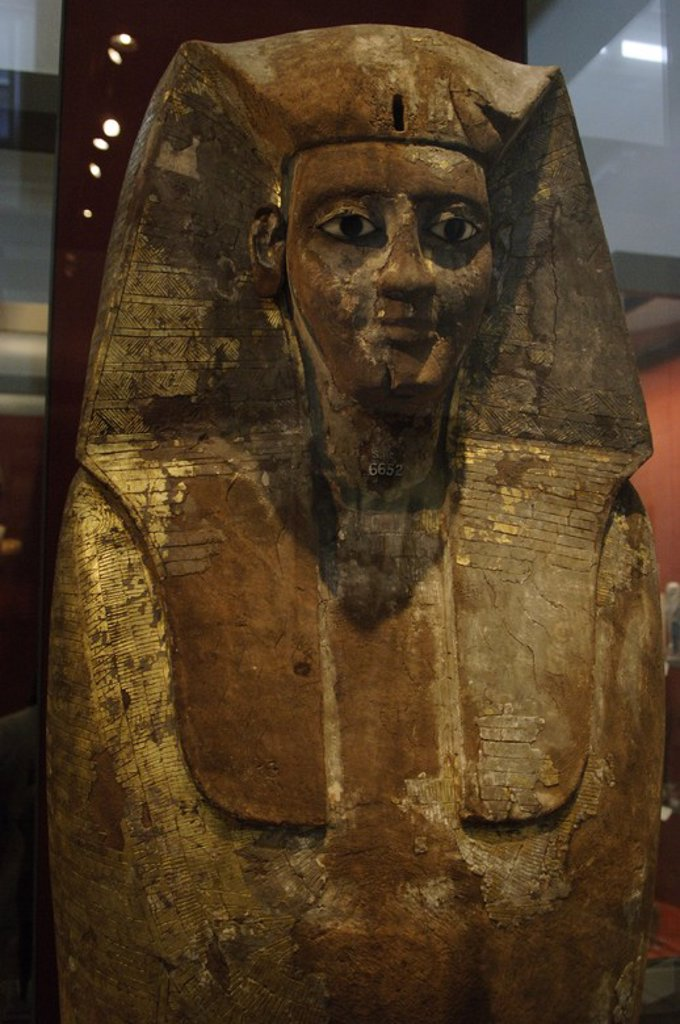 Stock Photo: 4409-61087 Coffin of King Nubkheperra Intef. Detail. 17th Dynasty. Second Intermediate Period. Around 1600 BC. From Dra Abu el-Naga (Thebes, Egypt). British Museum. London. United Kingdom.