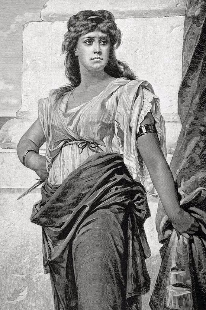 Medea. The Artistic Illustration. Engraving. 1884. : Stock Photo