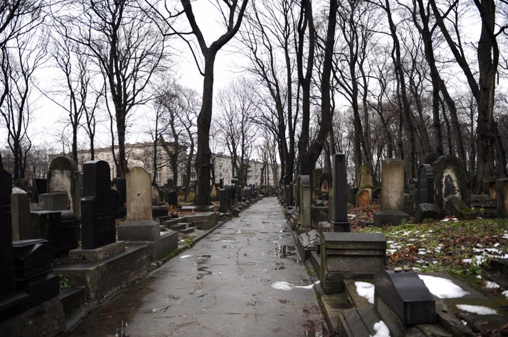 Stock Photo: 4409-62620 Poland. Krakow. Jewish cemetery.