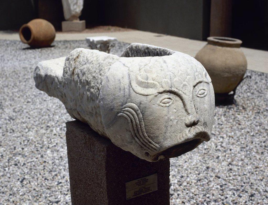 Stock Photo: 4409-63136 ARTE BIZANTINO. TURQUIA. GARGOLA BIZANTINA. Museo de Pérgamo.