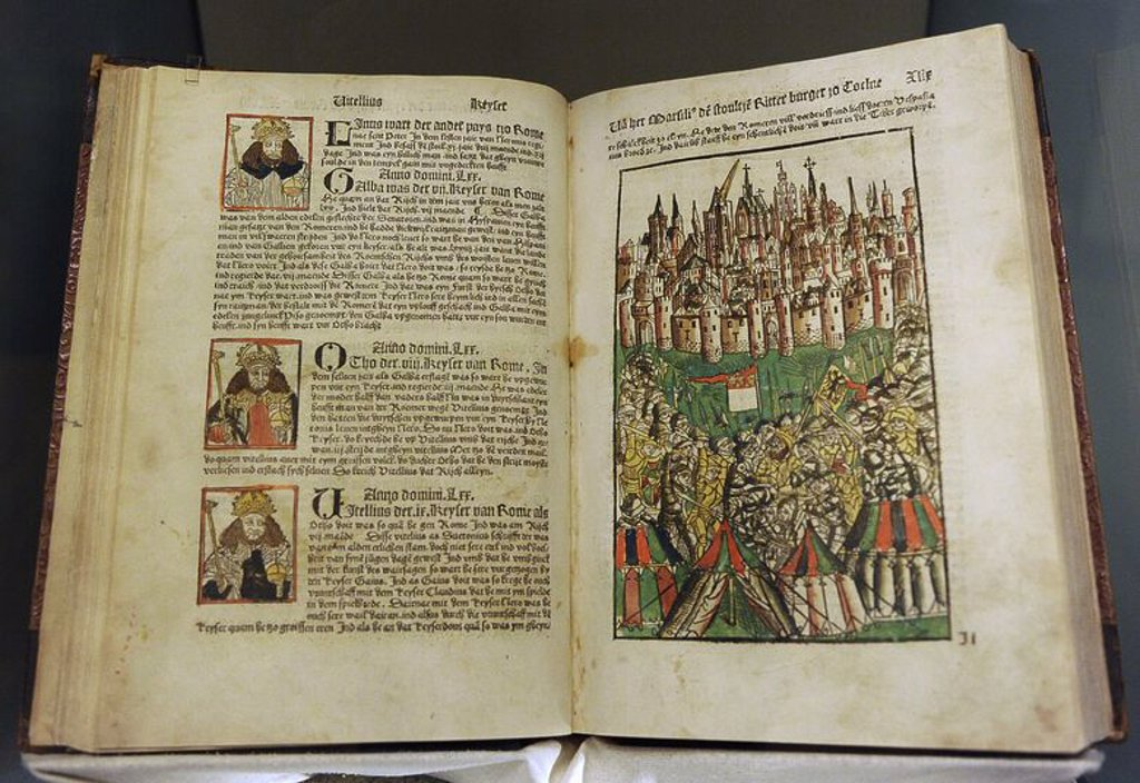 Stock Photo: 4409-63831 The Cologne Chronicle by Johann Koelhoff the Younger  (1440- 1502). 1499. German Historical Museum. Berlin. Germany.