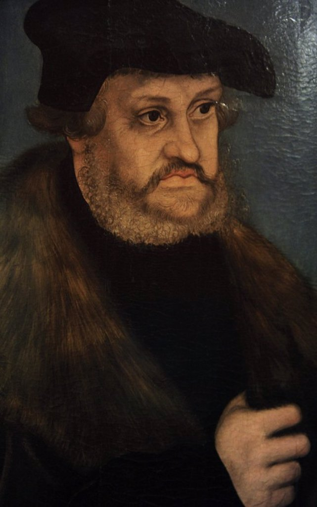Stock Photo: 4409-63836 Frederick III of Saxony (1463-1525). Elector of Saxony. Portrait by Lucas Cranach the Elder (1472-1553), 1525-1527. German Historical Museum. Berlin. Germany.
