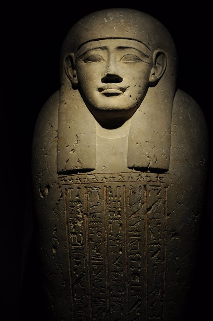 Stock Photo: 4409-63993 Egyptian Art. Sarcophagus of Thut-nakht. C. 200 B.C. Ptolemaic Egypt. Carlsberg Glyptotek Museum. Copenhagen. Denmark..