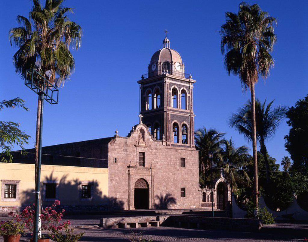 Stock Photo: 4409-642 Mexico.Baja California Sur.Ciudad de Loreto.Misión Nuestra Señora de Loreto.Colonial siglo XVII.
