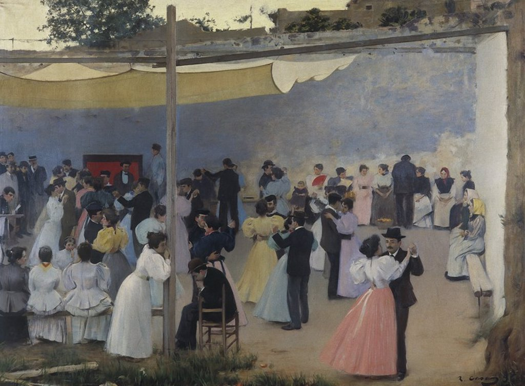 Stock Photo: 4409-64421 Baile de Tarde, 1896. Siglo XIX. Ramon Casas. Modernismo.