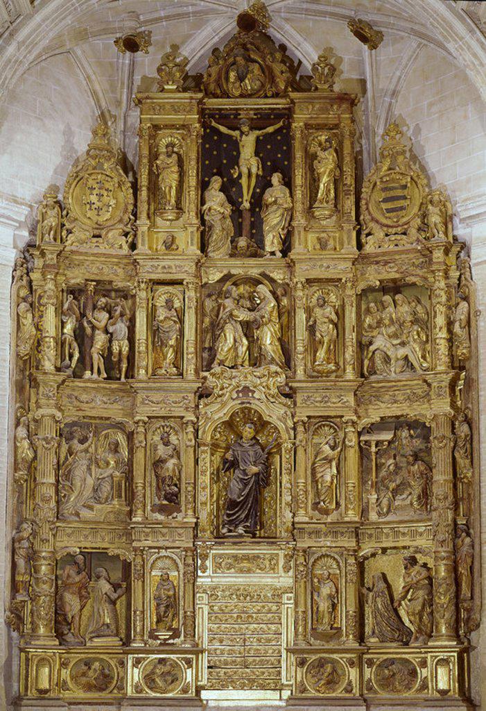 Stock Photo: 4409-6444 RETABLO MAYOR DE LA IGLESIA DE SAN ROMAN CONVERTIDA EN MUSEO DE LOS CONCILIOS. Location: IGLESIA DE SAN ROMAN-MUSEO DE LOS CONCILIOS, TOLEDO, SPAIN.
