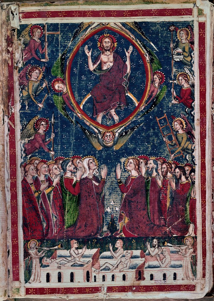 Stock Photo: 4409-6510 The Seven Parts. Las Siete partidas. The Last Judgement. Madrid, National Library. Author: ALFONSO X OF CASTILE, THE WISE. Location: BIBLIOTECA NACIONAL-COLECCION, MADRID, SPAIN.