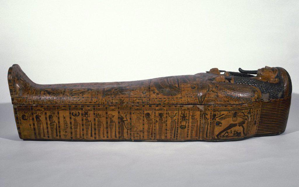 Stock Photo: 4409-65470 ARTE EGIPCIO. SARCOFAGO del escriba BUTEHAMON. Tebas (XXI-Dinastía). Año 1050 a. C. Egipto.