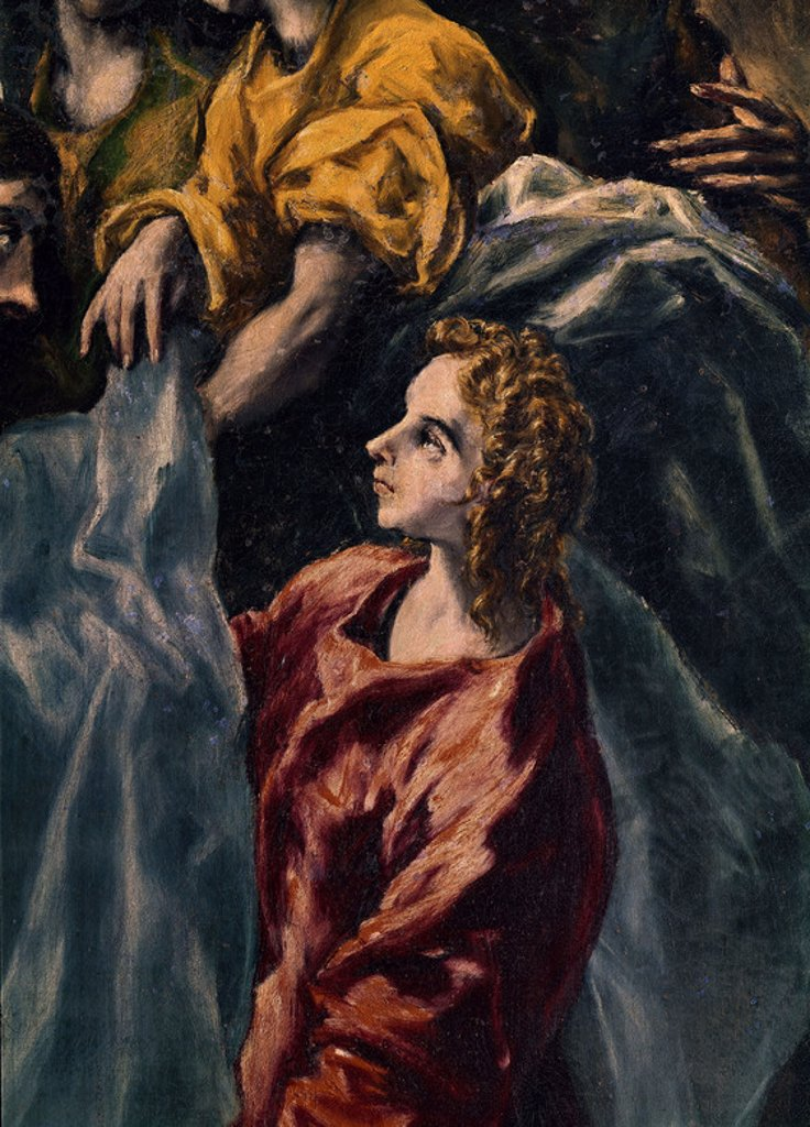 Stock Photo: 4409-6928 BAUTISMO DE CRISTO-DET. Author: EL GRECO. Location: HOSPITAL DE TAVERA / MUSEO DUQUE DE LERMA, TOLEDO, SPAIN.