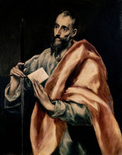 Stock Photo: 4409-6930 SAN PABLO. Author: EL GRECO. Location: CASA MUSEO DEL GRECO-COLECCION, TOLEDO, SPAIN.
