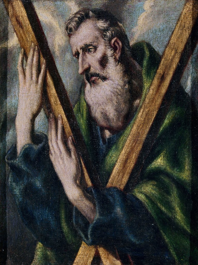 Stock Photo: 4409-7035 SAN ANDRES. Author: EL GRECO. Location: PRIVATE COLLECTION, MADRID, SPAIN.