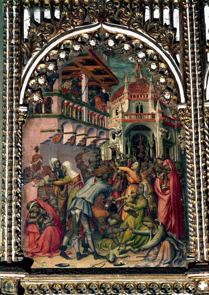 Stock Photo: 4409-7079 Massacre of the Innocents. (Degollación de Inocentes). Salamanca, Old Cathedral. Author: FLORENTINO NICOLAS O DELLI NICOLO. Location: CATEDRAL VIEJA, SALAMANCA, SPAIN.