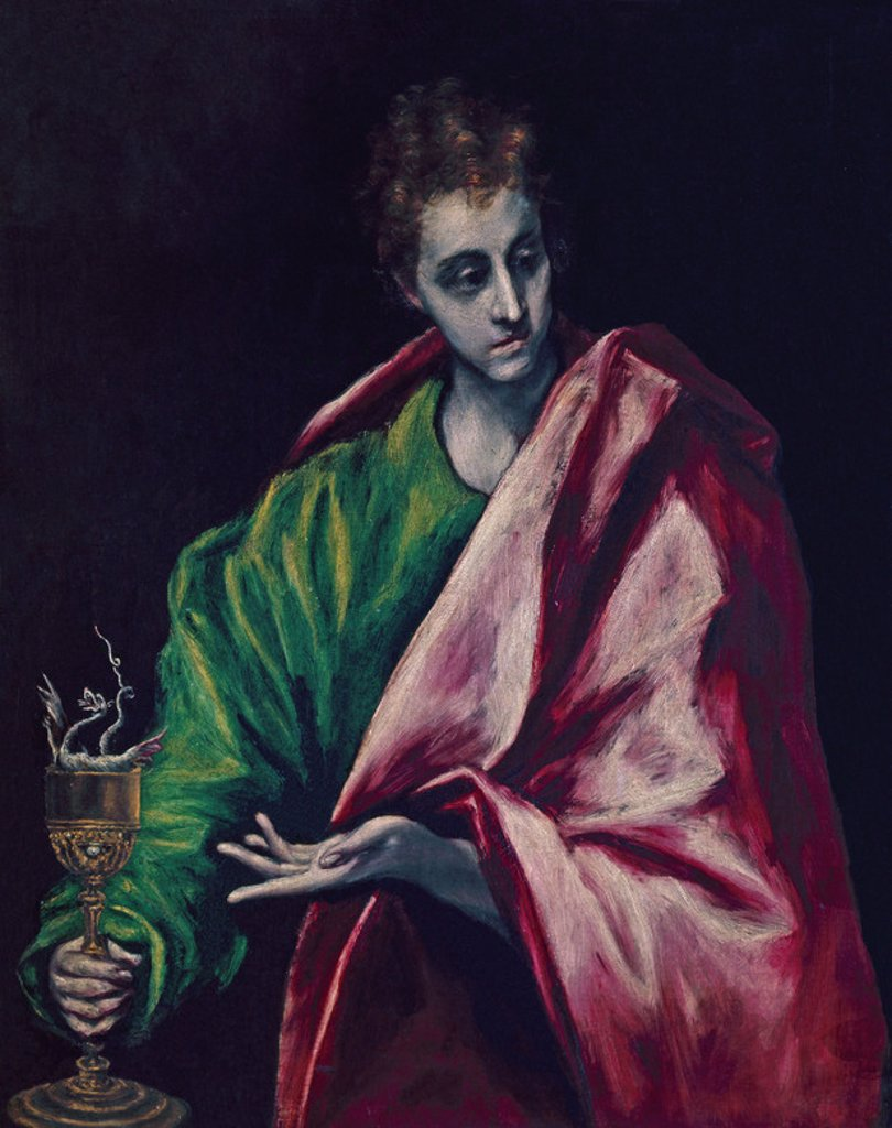 Stock Photo: 4409-7112 SAN JUAN EVANGELISTA. Author: EL GRECO. Location: CATEDRAL-INTERIOR, TOLEDO, SPAIN.