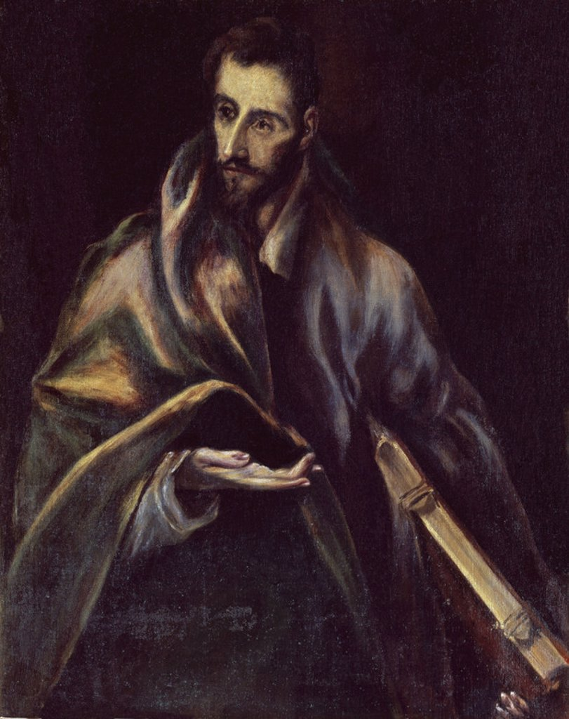 Saint James the Greater - oil on canvas. Author: EL GRECO. Location: CATEDRAL-INTERIOR, TOLEDO, SPAIN. Also known as: SANTIAGO EL MAYOR. : Stock Photo