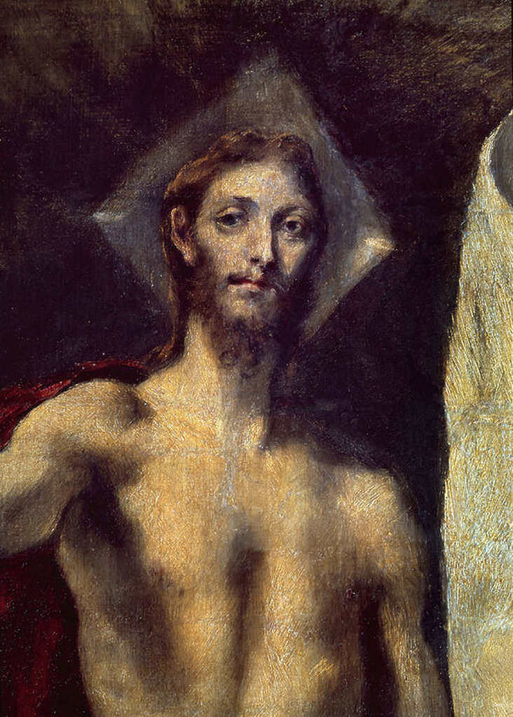 Stock Photo: 4409-7131 RESURRECCION - DETALLE - 1605/1610 - OLEO/LIENZO - NP 825 - MANIERISMO ESPAÑOL - CONJUNTO 1103. Author: EL GRECO. Location: MUSEO DEL PRADO-PINTURA, MADRID, SPAIN.