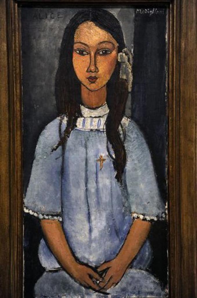 Amedeo Modigliani (1884-1920), Italian painter. Alice, c.1918. National Museum of Art. Copenhagen. Denmark. : Stock Photo