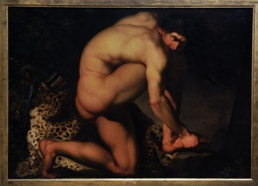 Stock Photo: 4409-72736 Nicolai Abildgaard (1743-1809). Danish painter. The Wounded Philoctetes, 1775. National Museum of Art. Copenhagen. Denmark.