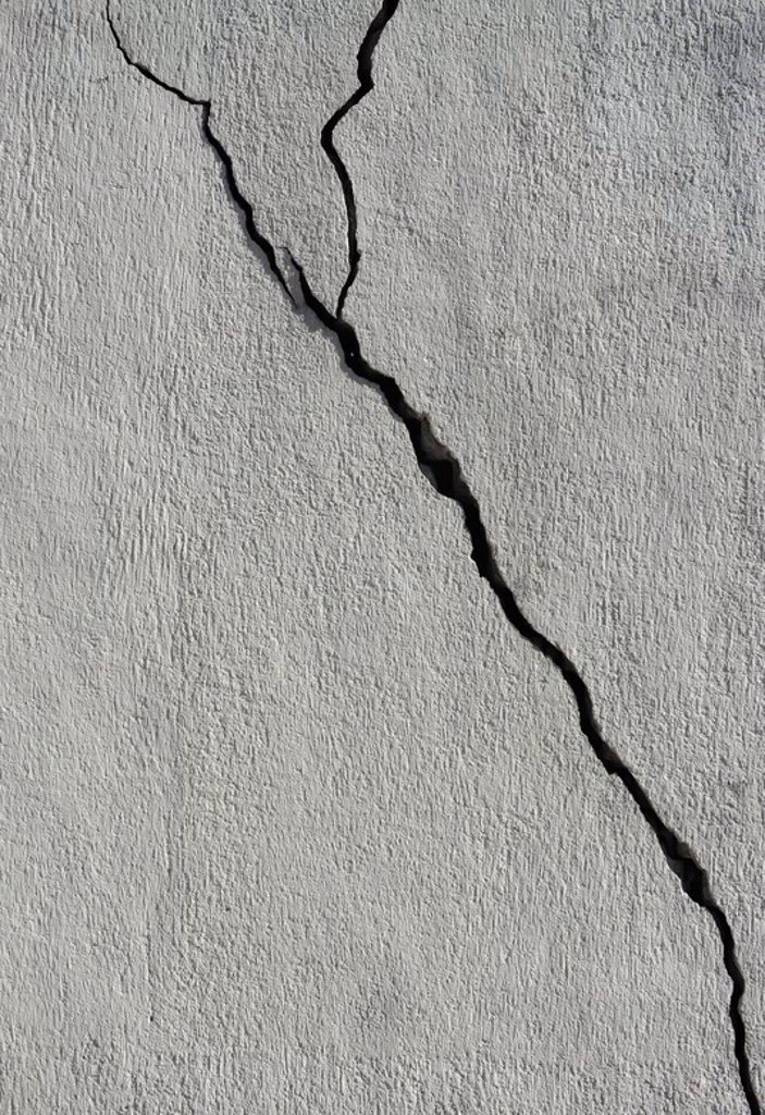 Crack on a wall. : Stock Photo