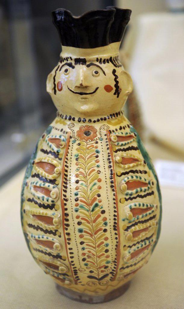 Stock Photo: 4409-73266 Miska jug, 1828. Mezocsat, Borsod county. Ethnographic Museum. Budapest. Hungary.