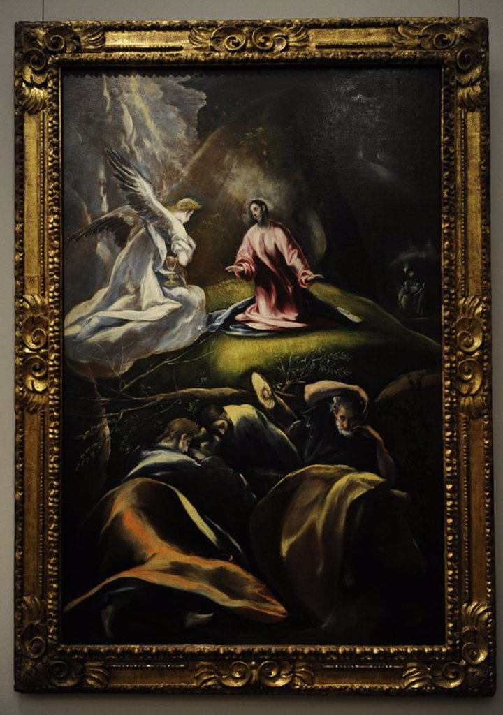 Stock Photo: 4409-73300 El Greco (1541-1614). Cretan painter. The Agony in the Garden, c.1610-1612. Museum of Fine Arts. Budapest. Hungary.