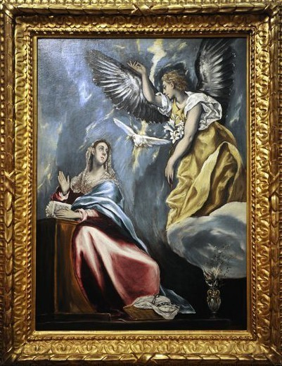 Stock Photo: 4409-73304 El Greco (1541-1614). Cretan painter. The Annunciation, c.1600. Museum of Fine Arts. Budapest. Hungary.