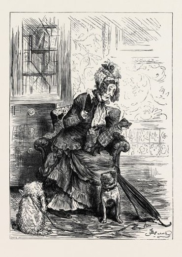 Stock Photo: 4409-74413 MISS TABITHA MONCKTON, 1880.