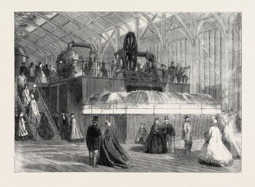 Stock Photo: 4409-81547 THE INTERNATIONAL EXHIBITION: CENTRIFUGAL PUMP BY EASTON, AMOS, AND CO., 1862.