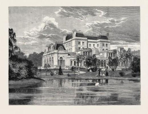 Stock Photo: 4409-83097 KENSINGTON HOUSE, BUILT FOR MR. ALBERT GRANT, THE GARDEN FRONT.