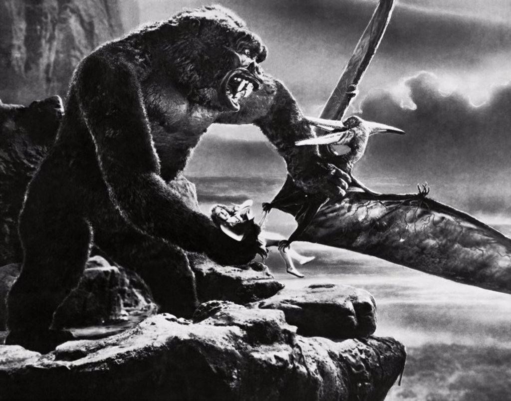 Original Film Title: KING KONG. English Title: KING KONG. Film Director: MERIAN C. COOPER; ERNEST B. SCHOEDSACK. Year: 1933. : Stock Photo