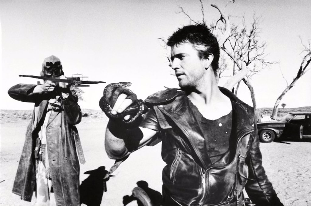 Original Film Title: THE MAD MAX II: ROAD WARRIOR. English Title: THE MAD MAX II: ROAD WARRIOR. Film Director: GEORGE MILLER. Year: 1981. Stars: MEL GIBSON. : Stock Photo