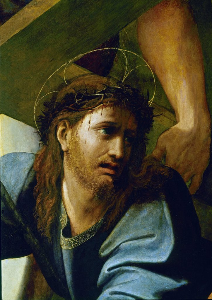 Stock Photo: 4409-8873 Italian School. Jesus Falling during his Martyrdom - detail. Madrid, Prado museum. Author: RAPHAEL. Location: MUSEO DEL PRADO-PINTURA, MADRID, SPAIN.