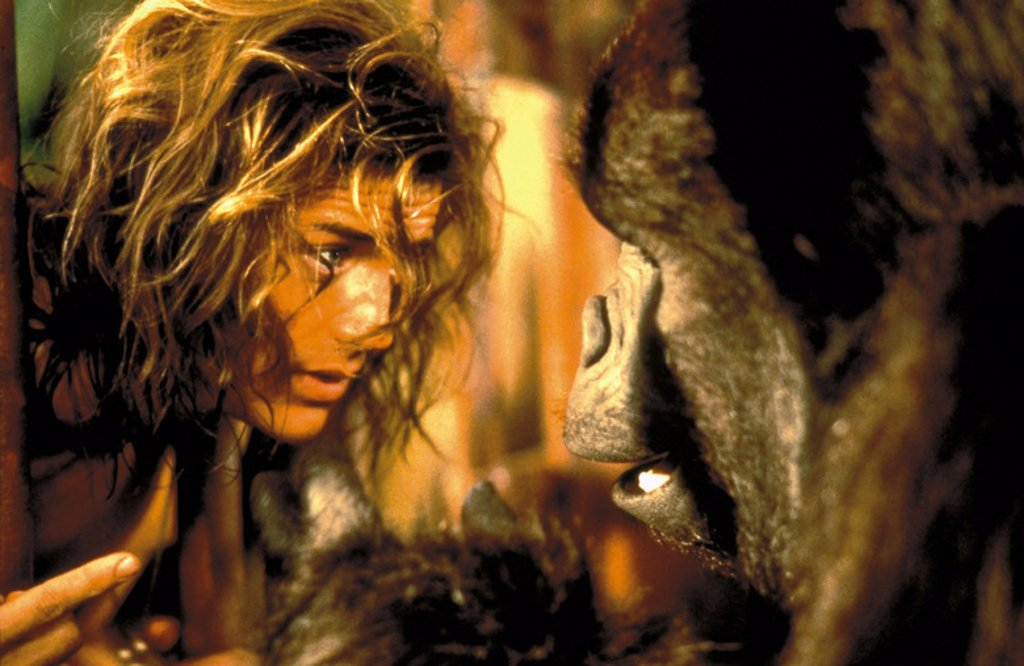 Original Film Title: GEORGE OF THE JUNGLE. English Title: GEORGE OF THE JUNGLE. Film Director: SAM WEISMAN. Year: 1997. Stars: BRENDAN FRASER. : Stock Photo