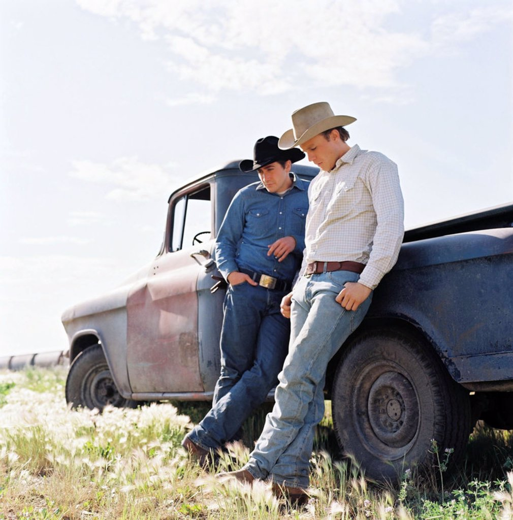 Original Film Title: BROKEBACK MOUNTAIN. English Title: BROKEBACK MOUNTAIN. Film Director: ANG LEE. Year: 2005. Stars: HEATH LEDGER; JAKE GYLLENHAAL. : Stock Photo