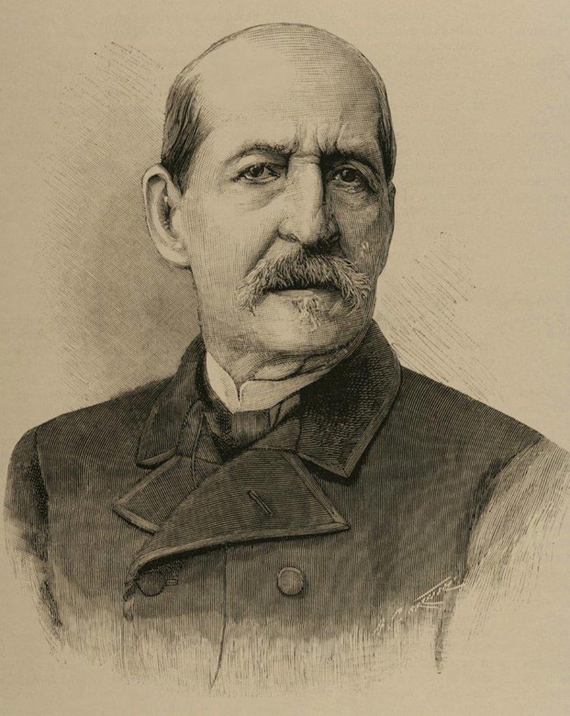 """Germán Hernández Amores, Germán (Murcia, 1823-1894). Pintor español. Grabado por A. Carretero. """"La Ilustración Española y Americana"""", año 1892. : Stock Photo"""