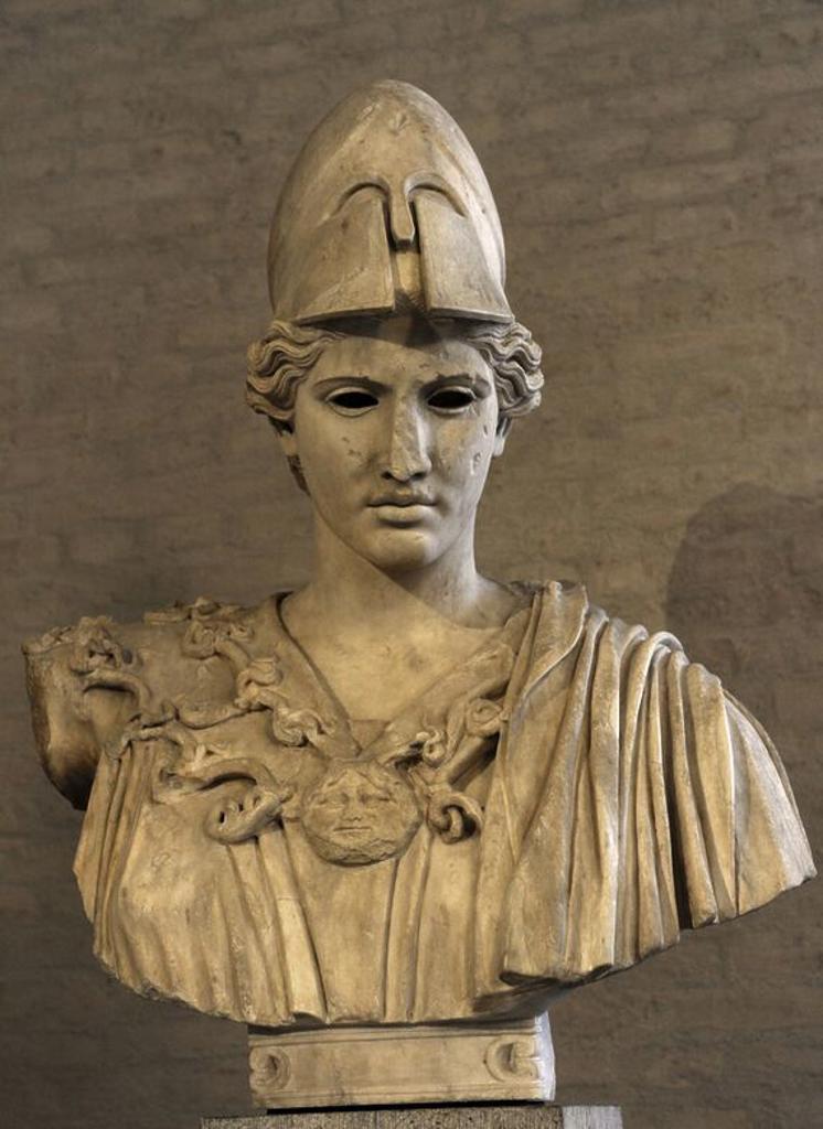 Arte griego epoca clasica grecia busto de atenea for Epoca clasica