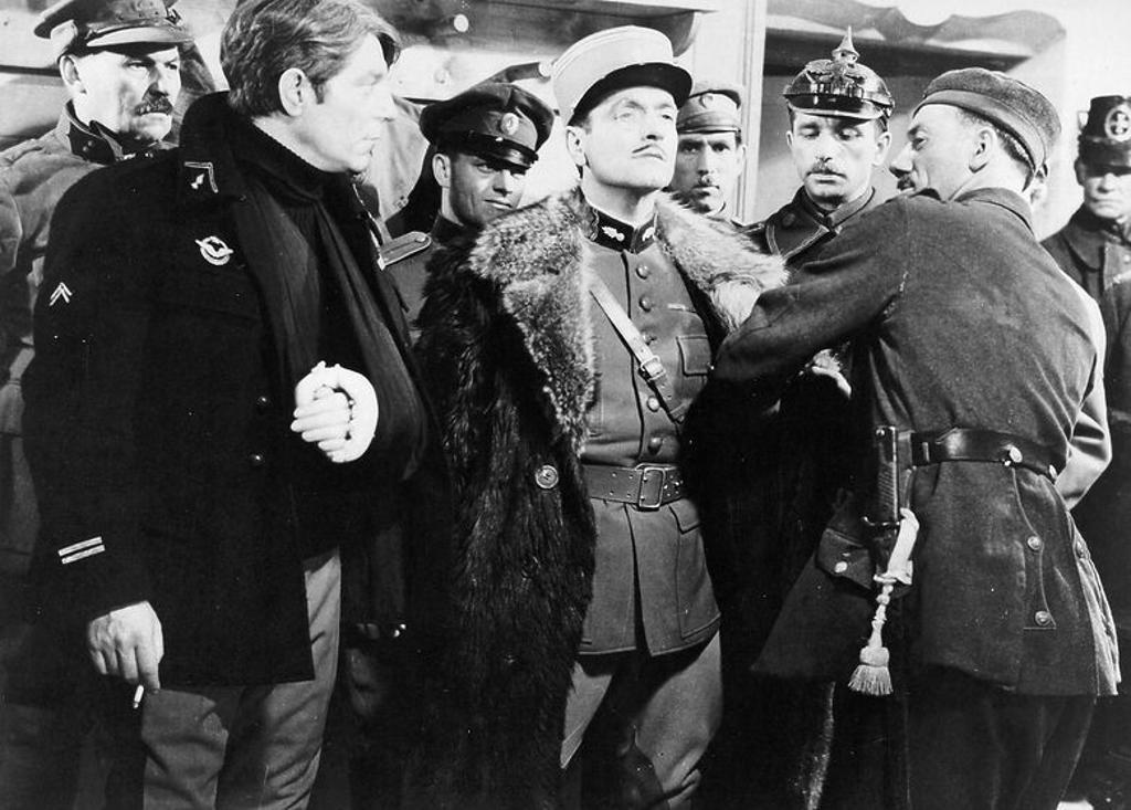 Original Film Title: LA GRANDE ILLUSION. English Title: GRAND ILLUSION, THE. Film Director: JEAN RENOIR. Year: 1937. Stars: JEAN GABIN; PIERRE FRESNAY. : Stock Photo