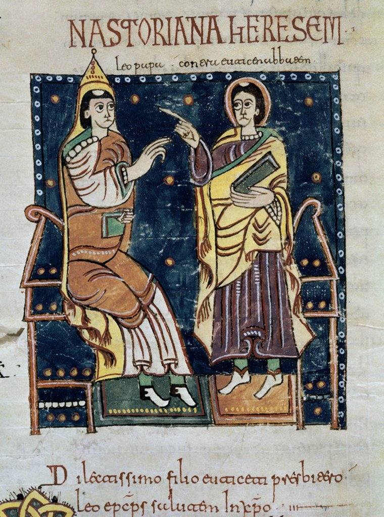 CODICE ALBENDENSE - MOZARABE - FOL 277 R - SIGLO X. Location: MONASTERIO-BIBLIOTECA-COLECCION, SAN LORENZO DEL ESCORIAL, MADRID, SPAIN. : Stock Photo
