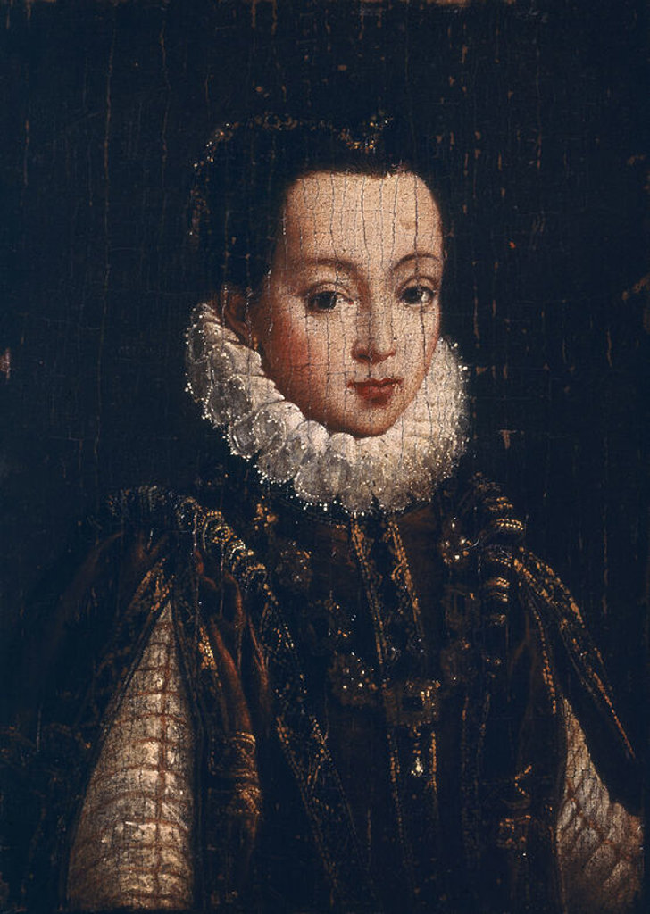 Stock Photo: 4409-9956 ISABEL DE VALOIS-TERCERA ESPOSA DE FELIPE II. Author: MOR, ANTONIS. Location: PRIVATE COLLECTION, MADRID, SPAIN.