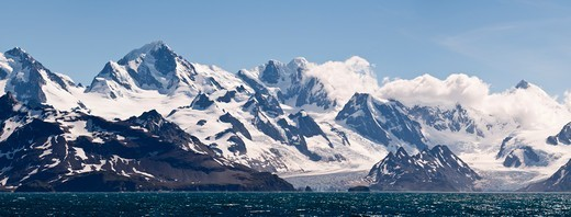 Stock Photo: 4410-1089 Cooper Bay at the southern extreme of South Georgia Island