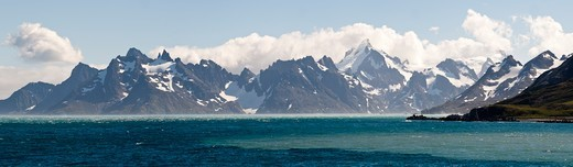 Stock Photo: 4410-1090 Cooper Bay at the southern extreme of South Georgia Island