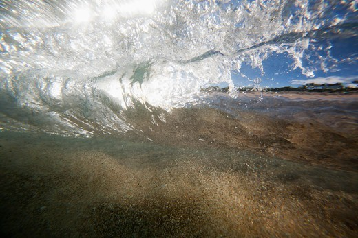 Stock Photo: 4411-1934 Hawaii, USA,Waves Crashing Down On Beach